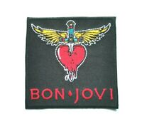 Bon Jovi Patch Punk Rock Music Festival Sew or Iron On Badge