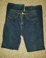 Lucky Brand Dungarees by Gene Montesano Denim Blue Jeans Flare Womens 2/26