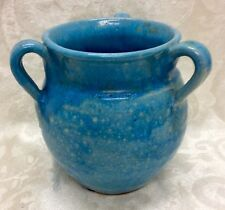 North State, N. C. Art Pottery, 2nd Stamp, Chinese Blue 3- Handle Vase