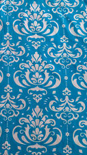 BEAUTIFUL COTTON FABRIC FOR DRESS MAKING, GOOD QUALITY, 58'' WIDTH, BLUE & WHITE