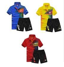 Hot! New men's sports Tops tennis/badminton Clothes set T shirts+shorts