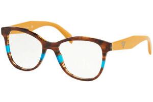 PRADA EyewearPR12TV 2581O1 51 Striped Brown Azure (258-1O1) Eyeglasses