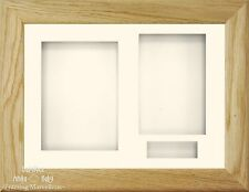 "11.5x8.5x2"" Solid Oak 3D Box Display frame Kit Memory Baby Keepsakes Wedding 6x4"