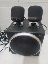 3 Piece Logitech Z-540 Computer Speakers Subwoofer Surround Sound wth Directions