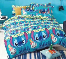 Lilo & Stitch Fitted Sheet, Duvet cover sheet and 2 Pillow Cases Bedding Set