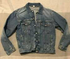 Vintage Levis Mens Denim Trucker Blue Jean Jacket Size Large Sights Prototype