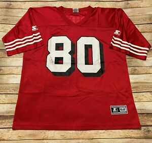 Starter SAN FRANCISCO 49ERS Jersey JERRY RICE Vtg 1994 Red Home NFL Retro 52 XL