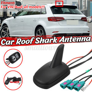 Shark Fin Car Aerial DAB AM FM GPS Roof Mount Antenna Universal For Audi VW