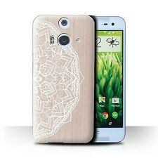 STUFF4 Case/Cover for HTC Butterfly 2/Fine Lace Wood/Mandala