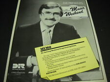 GARY OWENS solving weekend blahs on DIR RADIO NETWORK Promo Poster Ad mint cond