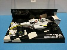 RARE 1/43 F1  BRAWN MERCEDES BGP01 JENSON BUTTON 2009 BRITISH GP WITH UNION JACK