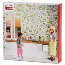 Lundby 60.2026 Smaland Küchen Set - Schrank Spühle Puppenhaus 1:18