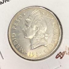 1963 Dominican Republic 1/2 Peso Silver Coin