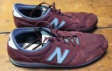 New Balance Men's 420 Shoes Gray Grey & Red Burgundy Size 13 U420BPL