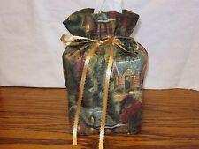 Thomas Kinkade Cabins Cottage cotton Fabric Handmade square Tissue Box Cover
