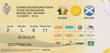 Belgium v Scotland. RARE VIP match programme & used ticket. 16/10/12. In Dutch.