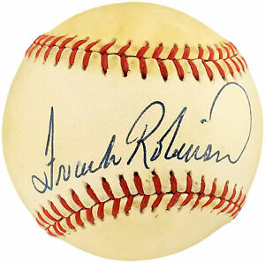 Frank Robinson Autographed Lee Mac Phail AL Baseball Orioles, Beckett Y93205