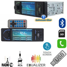 AUTORADIO DISPLAY MP3 MP4 FM AUX USB SD VIVAVOCE BLUETOOTH 50Wx4 SMART PHONE