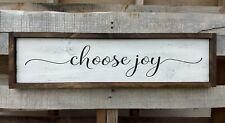 CHOOSE JOY wood sign rustic farmhouse home decor farm sign inspirational large