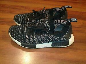 Adidas NMD_R1 STLT B37636 Primeknit Mens Athletic Shoes Black White Size 7 $140
