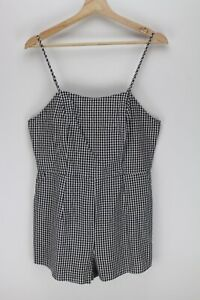 TEMT Black/White Check Summer Playsuit - Size 12