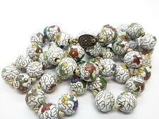 Vintage CHINESE Cloisonne Enamel Silver Bead NECKLACE