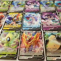 Sword and Shield Base Set SWSH 50 Card Lot GUARANTEED V, 5 Reverse Holos, Rares