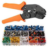 Electrical Ratchet Crimping Pliers & 800PCS Wire Stripper Terminal Crimper