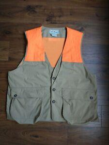 L.L Bean Freeport Maine Hunting Vest Mens XL USA Canvas Orange