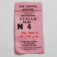 MOTÖRHEAD - ACE UP YOUR SLEEVE TOUR (1980) - Ticket - The Capitol Aberdeen 1.11.