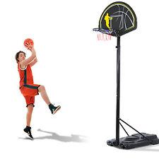 Panier de basket sur pied avec roues hauteur réglable 190-305 cm en acier