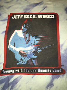 Jeff Beck wired vintage 1976 Tour T-shirt