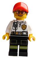 Lego Frau mit Brille Mitarbeiter Feuerwehr Feuerwehrfrau City cty0970 Neu