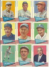1961 Fleer Greats Lot of 14 Different Cards VG/EX to EX-MT Nice Cards Set Break