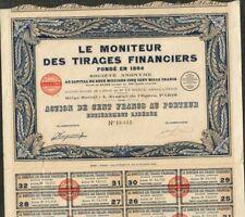 LE MONITEUR DES TIRAGES FINANCIERS (W)