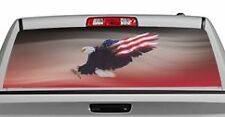 Truck Rear Window Decal Graphic [Wings of Freedom Red] 20x65in DC29906