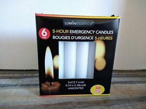 6 pcs. 5 Hour Emergency Survival Candles - Prepper, Bugout, Memorial