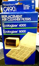 Waterbury CA 90 Air Cleaner Filters (2) Ecologizer 4000 & 8000 - New & Sealed