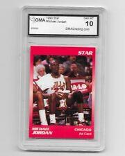 1990 STAR MICHAEL JORDAN AD CARD GEM MINT 10
