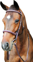 Henri de Rivel Pro Fancy Raised Comfort Crown Padded Bridle With Fancy Raised...