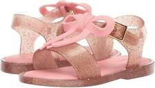 NIB Mini Mar Melissa Pink Gold Glitter Sandal Size Little Girl 6 $62