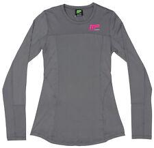 MusclePharm Women's Long Sleeve Rashguard (Gray) Size: Large