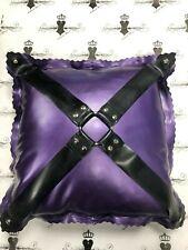 "X0958 Latex Kinky S/M CUSHION 16""x16"" Westward Bound PS Purple /Black RRP £99.00"