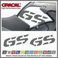 2x GS Grey R1200GS ADVENTURE 08-13 Fianco Serbatoio ADESIVI PEGATINA STICKERS