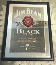 Jim Beam Black Mirror Whiskey Liquor  Sign Man Cave 18.5x24.5