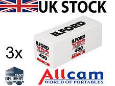 3 Pack: Ilford xp2 SUPER 120 iso400, Taglia 120 Nero & Bianco Pellicola negativa