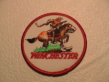 WINCHESTER COWBOY ON HORSE GUN RIFLE SHOTGUN PISTOL HUNTING PATCH BRAND NEW !