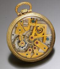 Rare Dudley Model 3 Display Case Pocket Watch w/ Masonic Symbol Dial & Movement
