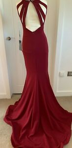 PIA MICHI 1815 WINE OPEN BACK GOWN SIZE 10