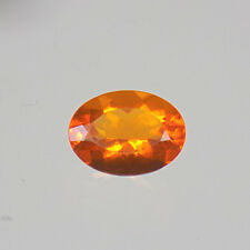 8x6mm OVAL FACETED ORANGE GENUINE MEXICAN FIRE OPAL 0.90 Ct LOOSE GEMSTONE
